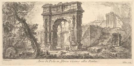 Giovanni Battista Piranesi~Plate 24 Arch of Pola i