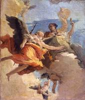 Giovanni Battista Tiepolo~Allegory of Virtue and N