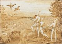Giovanni Domenico Tiepolo~Punchinellos Hunting Wat