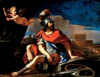 Guercino~Mars with Cupid