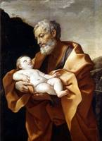 Guido Reni~Saint Joseph with Baby Jesus