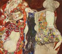 Gustav Klimt~Bridal procession (unfinished) after
