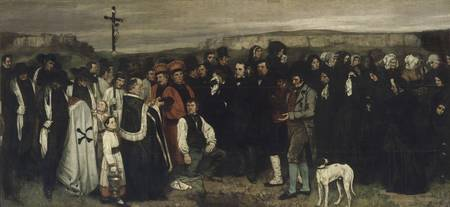 Gustave Courbet~A Burial at Ornans