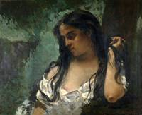 Gustave Courbet~Gypsy in Reflection