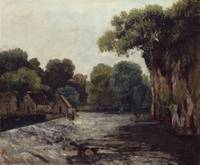 Gustave Courbet~The Weir at the Mill