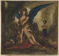 Gustave Moreau~Sphinx in a Grotto (Poet, King and