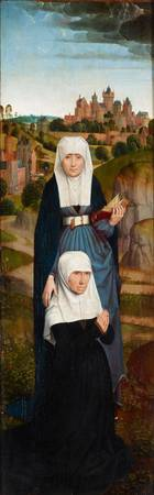 Hans Memling~Old Woman at Prayer with St. Anne