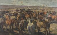 Harold Septimus Power~Horse lines on the Somme