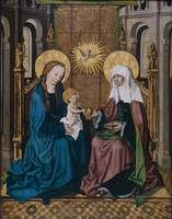 Hausbuchmeister~Virgin and Child with St. Anne