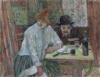 Henri de Toulouse-Lautrec~At the Café La Mie