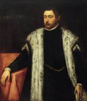 Tintoretto~Twenty-five year old Youth with Fur-lin