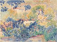 Henri-Edmond Cross~The Artist's Garden at Saint-Cl
