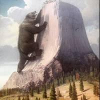"""Herbert A Collins~Devils Tower Bear Legend"" by Old_master"