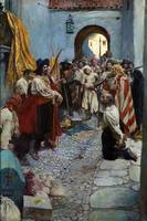 Howard Pyle~Extorting Tribute from the Citizens