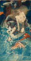 Howard Pyle~Study for The Fishing of Thor and Hymi