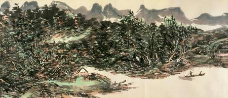 Huang Binhong~Crisp air in mountains and lakes