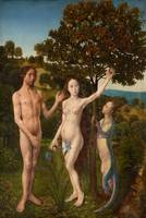 Hugo van der Goes~The Fall of Man and The Lamentat