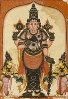 Indian~Lord Vishnu with Two Consorts, Sree Devi an
