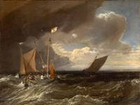 J. M. W. Turner~Seascape with a Squall Coming Up