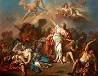 Jacques-Louis David~Apollo and Diana Attacking the