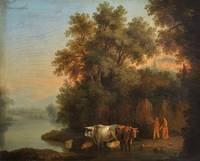 Jakob Philipp Hackert~Riverside cattle