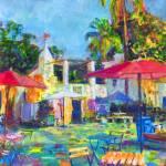Spanish Village Art Center Rainbow Patio by RD Riccoboni