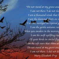 Mary Elizabeth Frye, Do Not Stand At My Grave And Art Prints & Posters by Art Photography