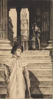 James Tissot~The Portico of the National Gallery,