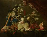 Jan Davidsz. de Heem~Sumptuous Fruit Still Life wi
