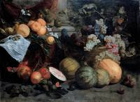 Jan Roos~Still Life with Fruit and Vegetables