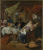 Jan Steen~The Dissolute Household