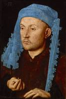 Jan van Eyck~Man in a Blue Cap