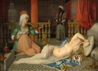 Jean Auguste Dominique Ingres~Odalisque with a Sla