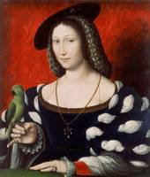 Jean Clouet~Portrait of Marguerite of Navarre