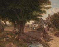 Jessica Landseer~Village Scene (possibly Colickey