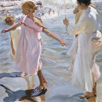 Joaquín Sorolla~Time for a Bathe, Valencia