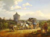 Johann Adam Klein~Bavarian Postal Coach before the