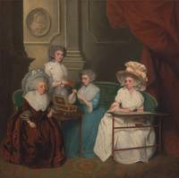 John Downman~Lady Jane Mathew and Her Daughters