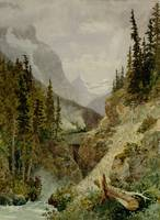 Lucius Richard O'Brien~Kicking Horse Pass (about 5