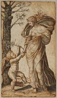 Marcantonio Raimondi~Reconciliation of Minerva and
