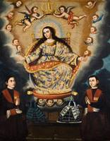Marcos Zapata~Seated Madonna with Graduation of th