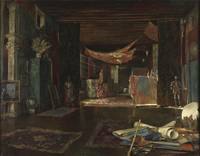 Mariano Fortuny~The atelier of the artist at Palaz