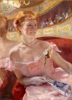 Mary Cassatt~Woman with a Pearl Necklace in a Loge
