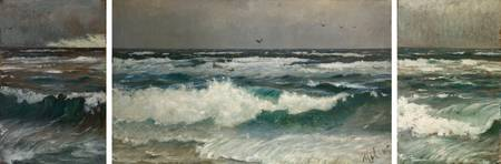 Michael Ancher~Breakers on the coast