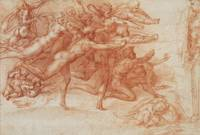 Michelangelo~Archers shooting at a herm