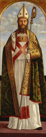 Vittore Carpaccio~A Bishop Saint Blessing