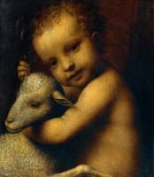 Bernardino Luini~The infant Jesus with a Lamb