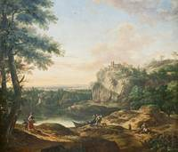 Joseph Roos~View of the Ruins of the Habichtsburg
