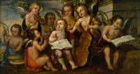 Juan Correa~The Infant Jesus with Angelic Musician
