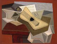 Juan Gris~Guitar and Newspaper